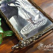 Bacchetta magica da mago con supporto con drago