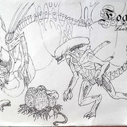Alien original sketch