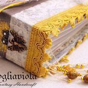 Libro firme con pizzo e merletto valencienne
