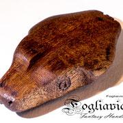 Commissione Snake Head: legno intagliato a mano