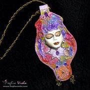 Caleidoscopia, goddess pendant Rainbow Rhapsody