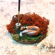 fox incense holder
