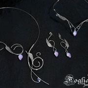 Tiara collana e orecchini Swarovski della sposa