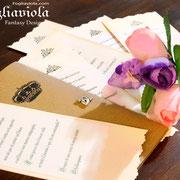 Fiori e corone per inviti esclusivi di cerimonie