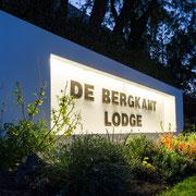 De Bergkant Lodge Eingangs-Sign