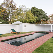 Walled Back Swimming Pool