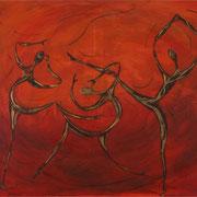 Tänzer, Mischtechnik auf Leinwand, 100 x 80
