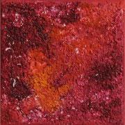 #54, Farbwelten IV, Mischtechnik auf Leinwand, 15 x 15
