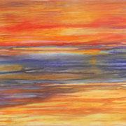 Lagune, Acryl und Öl auf Leinwand, 120 x 100
