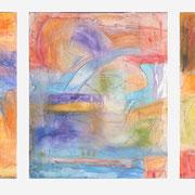 Energy,Triptychon, Mischtechnik auf Leinwand, 130 x 60
