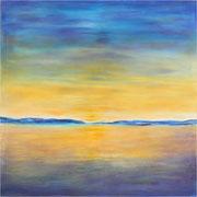 Horizont, Acryl und Öl auf Leinwand, 100 x 100