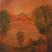 Berge, Acryl und Öl auf Leinwand, 60 x 80