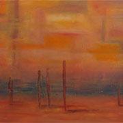Am See, Mischtechnik auf Leinwand, 100 x 80