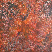 Explosion, Mischtechnik auf Leinwand, 100 x 100