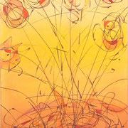 Summer Flowers, Mischtechnik auf Leinwand, 50 x 70
