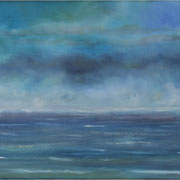 Unendlichkeit, Acryl und Öl auf Leinwand, 100 x 40