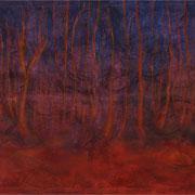 Zauberwald, Mischtechnik auf Leinwand, 120 x 90