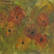 Flowers, Mischtechnik auf Leinwand, 120 x 80