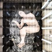 Installation: Nina Nielebock, Performance: Alexander Peschko,  Foto: Susanne Lencinas