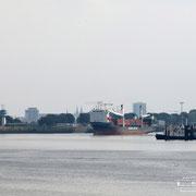 Wendebecken Neustädter Hafen - September 2009 - SLOMAN TRAVELER Länge: 129m; Breite: 20m