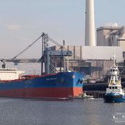Kohlenhafen - März 2010 - NORD MERCURY Länge: 225m; Breite: 32m