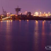 Blick von der Pappelallee(Werfthafen) zum Fähranleger Lankenau - Januar 2009