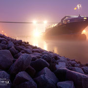Hafen A - Dezember 2008 - K-STORM(SEABOARD CARIBE) (Auflieger)  Länge: 139m; Breite: 22m