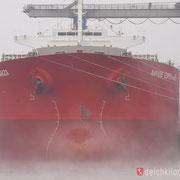 Kohlenhafen - Januar 2011 - NAVIOS ESPERANZA Länge: 225m; Breite: 32m