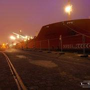 Fabrikenufer Februar 2009 - TRANSPORT Länge: 174m; Breite: 32m