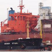 Stahlwerke Bremen - März 2010 - Hintergrund YEOMAN BRIDGE Länge: 249m; Breite: 38m