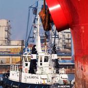 Hafen A - Oktober 2008 - BLUMENTHAL nach einem Schleppjob als 1. Mann an der FEDERAL HUNTER