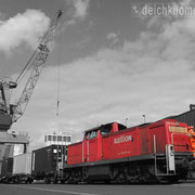Holz- und Fabrikenhafen April 2012 - Hafeneisenbahn beim Hansakai