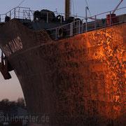 Schleuseneinfahrt - Februar 2014 - GAO QIANG Länge: 186m; Breite 30m