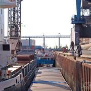 Getreidehafen - September 2008 - THULE -Länge: 89m; Breite: 14m