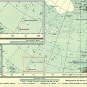 Attention, sur cette carte le Pôle Sud est en haut  !