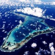 Diego Garcia, vue du ciel.