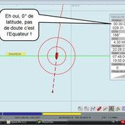 capture d'écran du logiciel de navigation à l'instant T !
