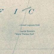 Le récif Ernest Legouvé sur une carte américaine de 1921