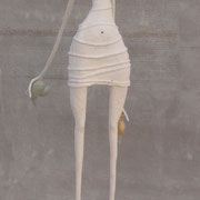 La pescadora IV, hierro, madera, resina, h 180 cm