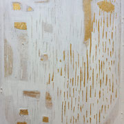 The Beautiful Healing Tree , acrylic, marble, resin, gold, lapiz on canvas, 116 x 81 cm
