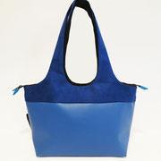 Shopper PM Skaï Bleu+Alcantara Bleu