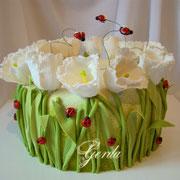 """Торт """"Весенние тюльпаны"""""""