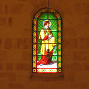 Détail intérieur (vitrail) de l'église
