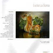 """Estratto libro """"SALENTOSILENTE"""" con una mia opera e una poesia di Pina Petracca"""