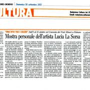Corriere del Giorno del 30-9-2012