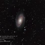 "M81, Teleskop BorenSimon 8""f3.6, Kamera CANON 700D (mod)+LPS-D1"