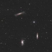 """Leo-Triplet (M65, M66 und NGC3628), BorenSimon 8""""f3.6, Kamera CANON 700D (mod)+LPS-D1"""