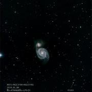 "M51, Teleskop BorenSimon 8""f3.6, Kamera CANON 700D (mod)+LPS-D1"