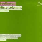 Beethoven: Missa Solemnis (Label: Col Legno) Haydnorchester von Bozen und Trient, Gustav Kuhn (2008)
