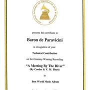 1993 グラミー賞:ベストワールドミュージック賞
